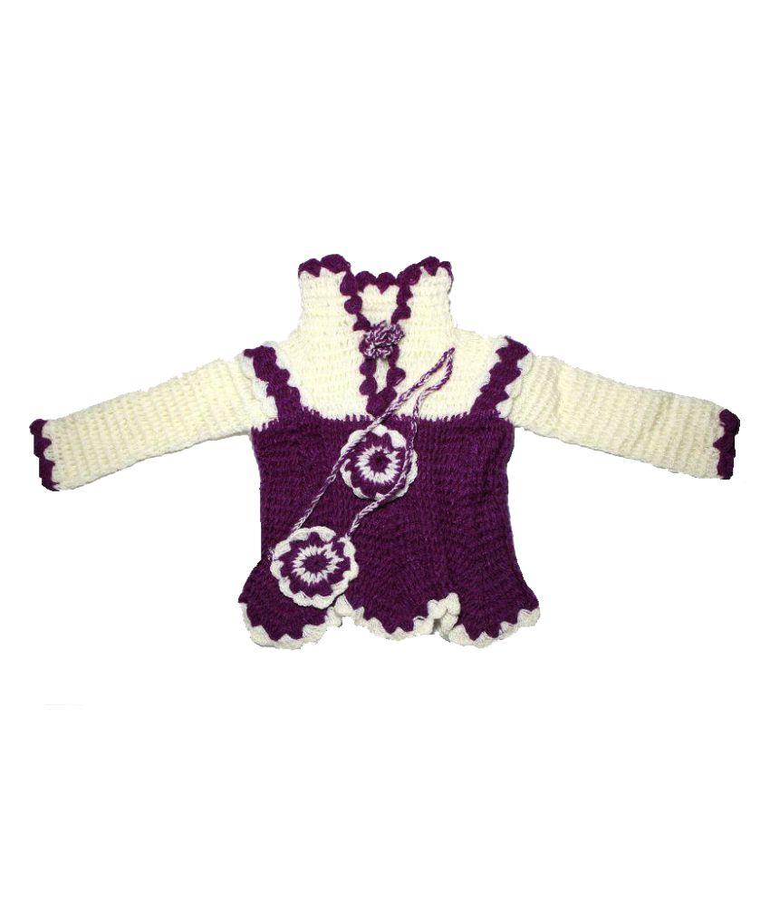 264790ca3 Nancydiva Multi Color Baby Girl Woolen Frocks For Winter - Buy ...