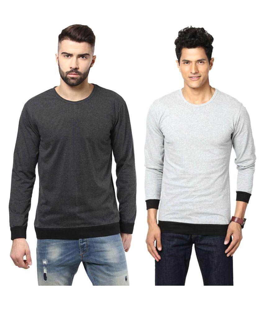 Unisopent Designs Grey Round T-Shirt Pack of 2