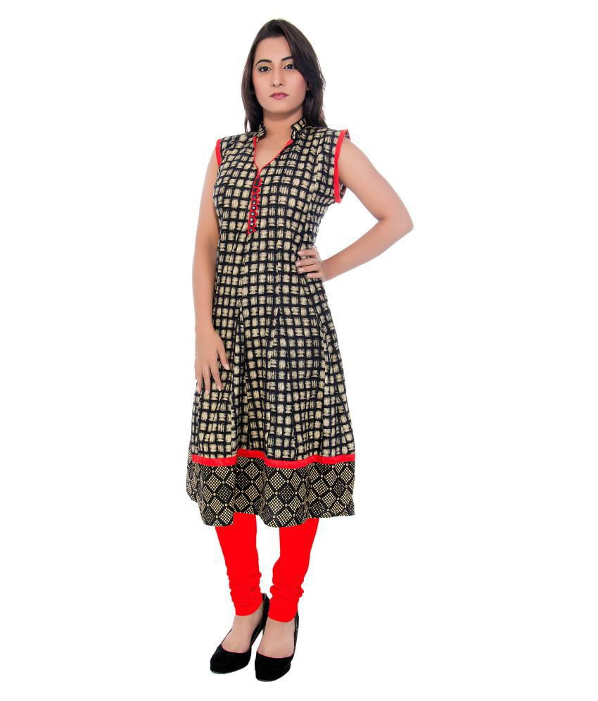 Acira Multicoloured Cotton Anarkali Kurti