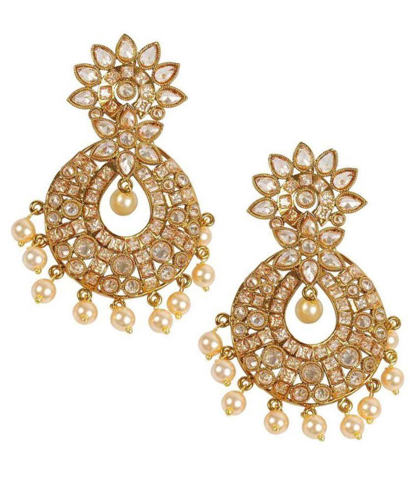 Much More Golden Chandeliers Earrings