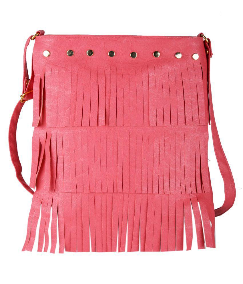 Vivinkaa Pink P.U. Sling Bag