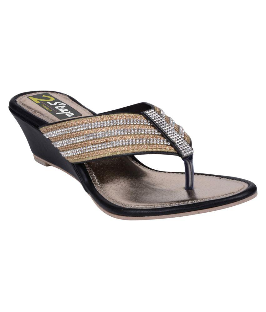 2 Step Beige Wedges Heels