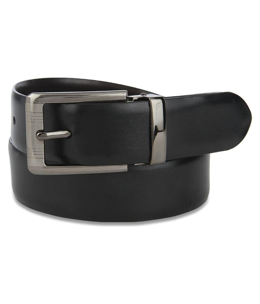 John Players Black PU Formal Belts