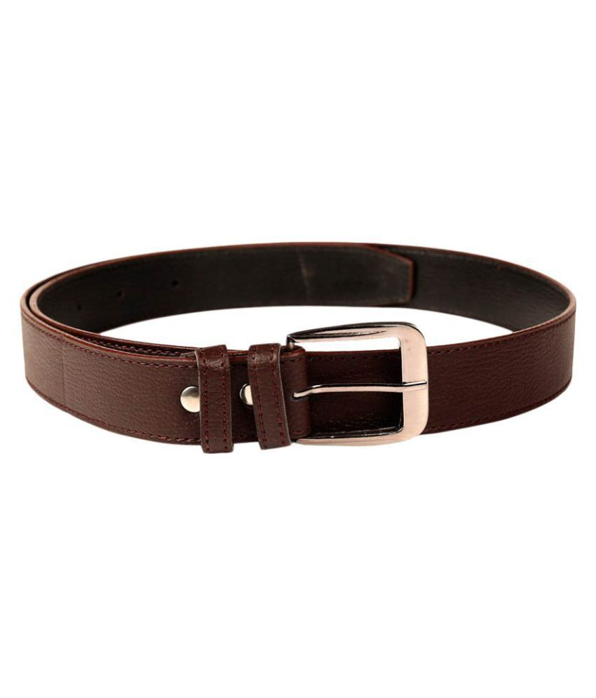 Shopping Store Brown Leather Casual Belts