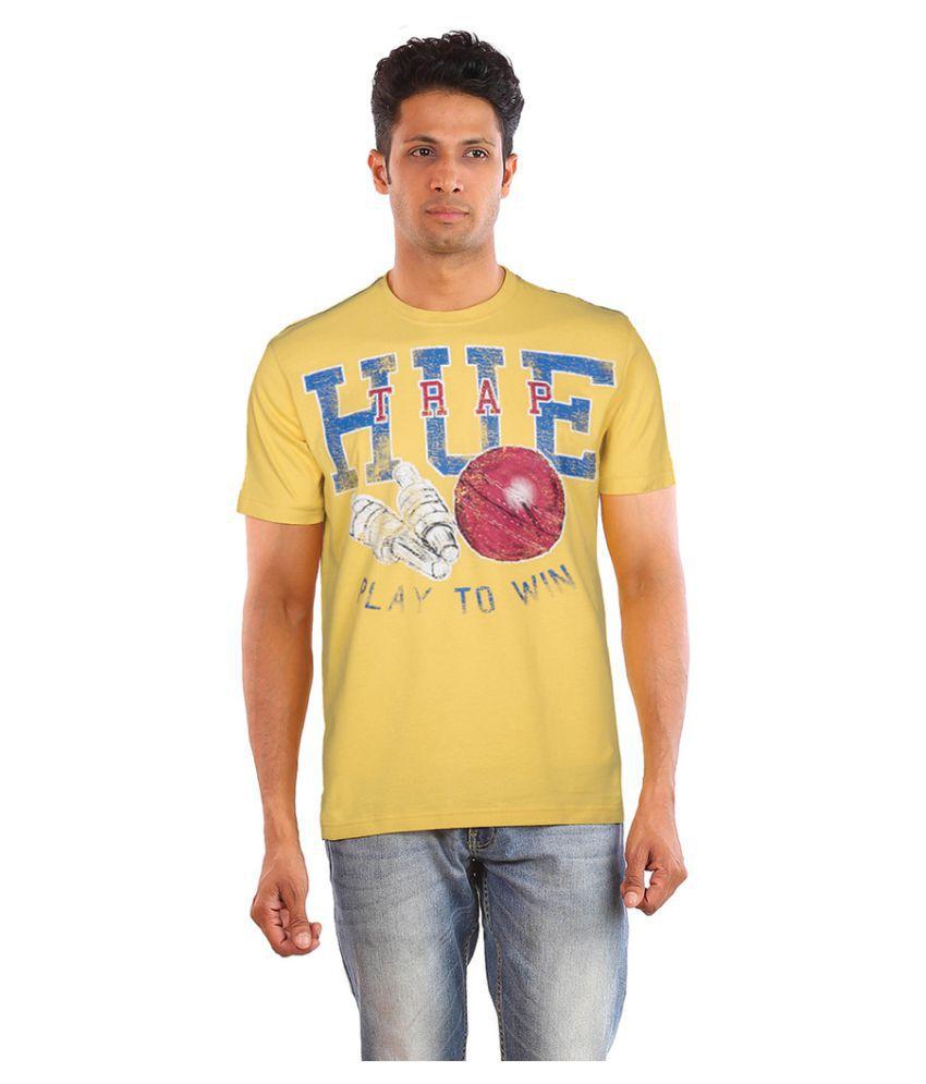 Huetrap Yellow Round T-Shirt