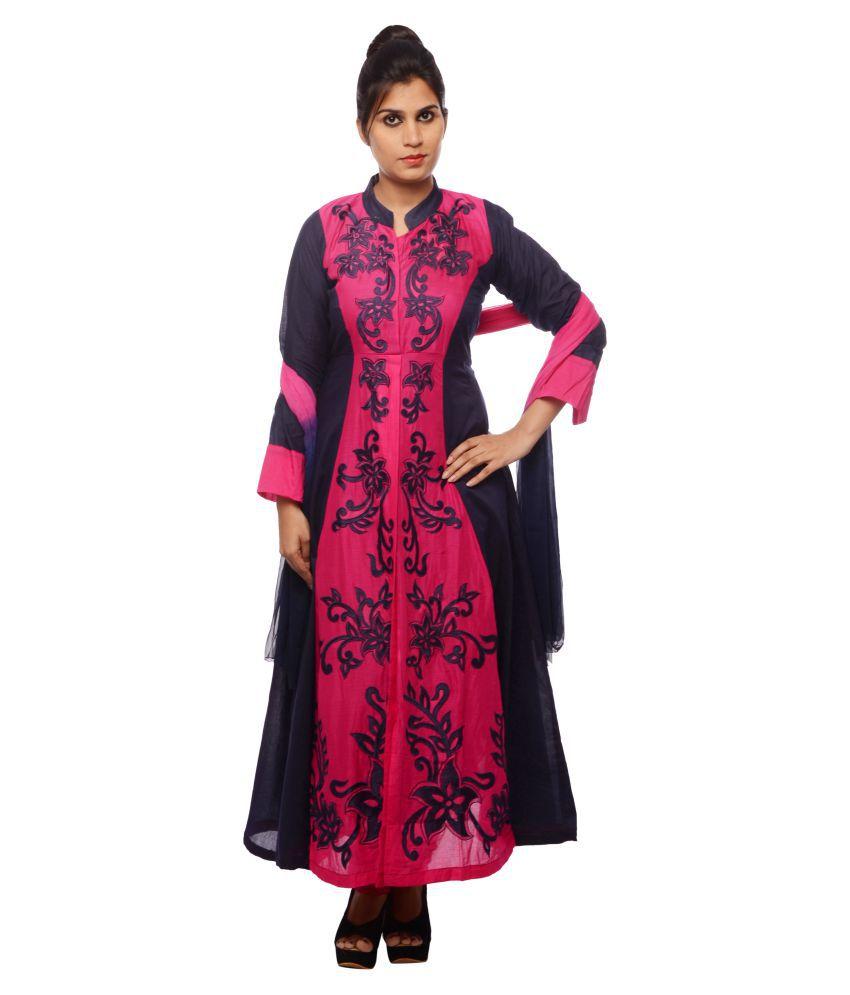 NK Multicoloured Cotton Anarkali Stitched Suit