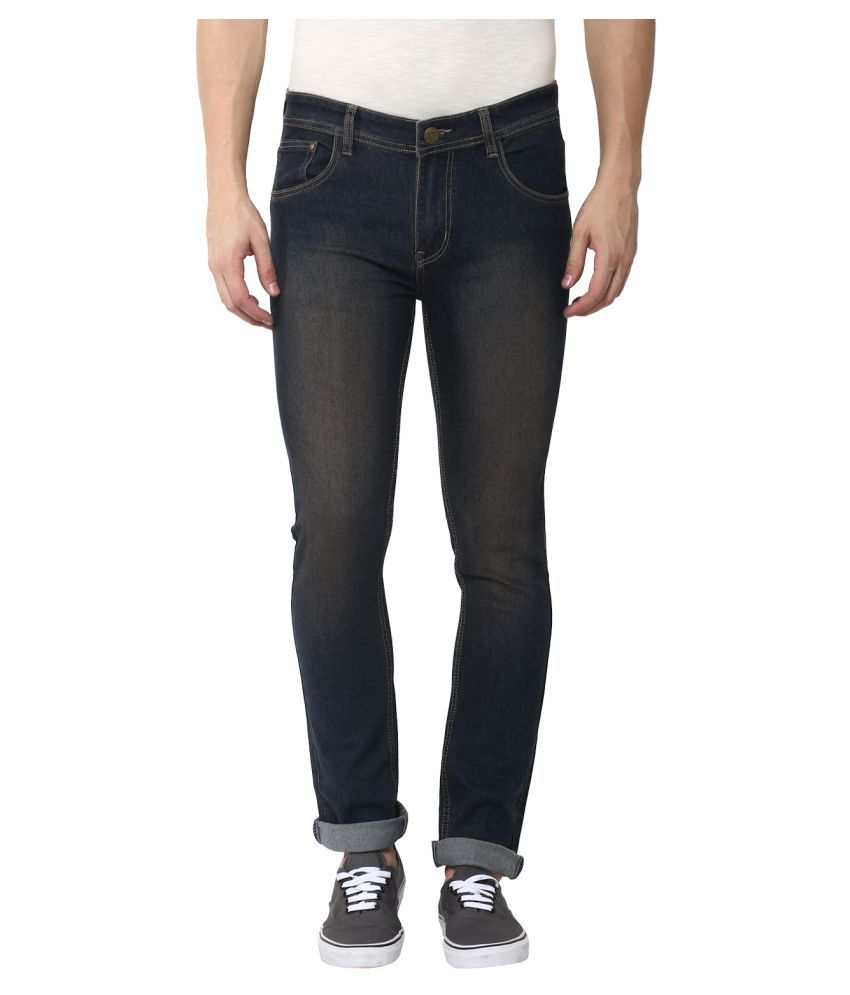 Stylox Black Skinny Washed