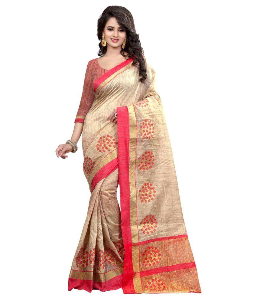 Shree Kamal Textorium Gold Cotton Silk Saree