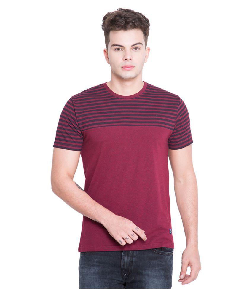 Highlander Maroon Round T-Shirt