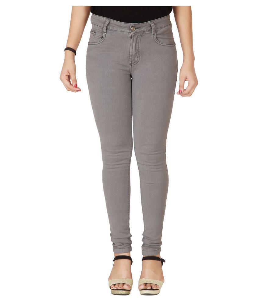Flirt Nx Denim Lycra Jeans - Grey