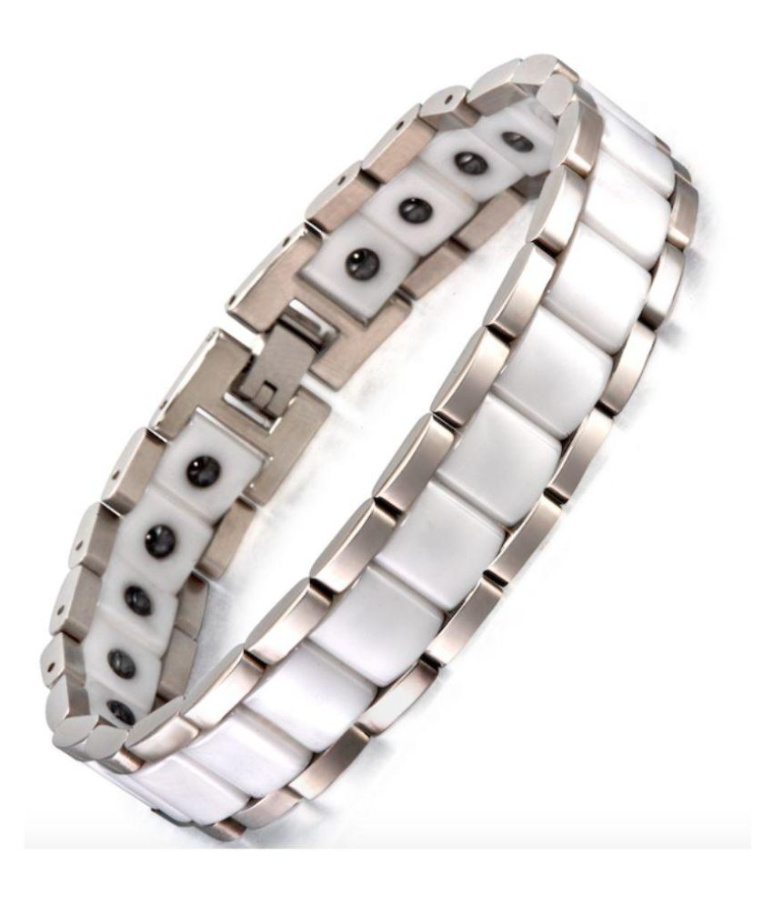 link pin bracelet s tungsten magnetic energy power men carbide therapy golf black