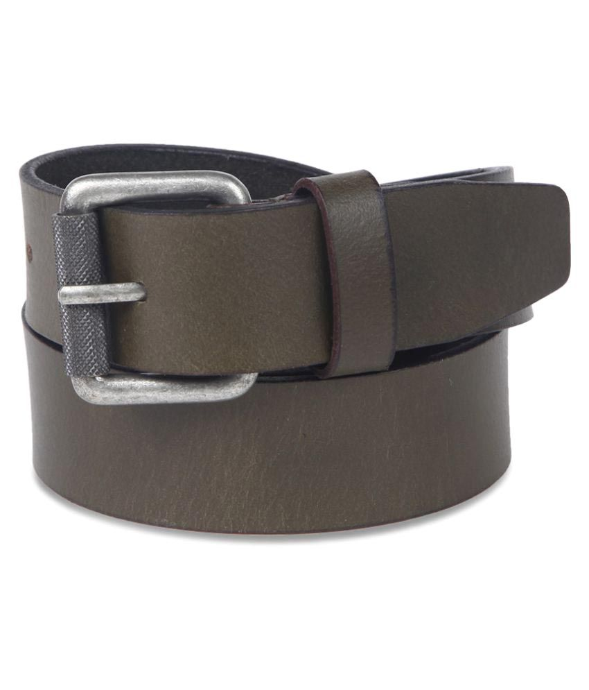 John Players Green Leather Formal Belts