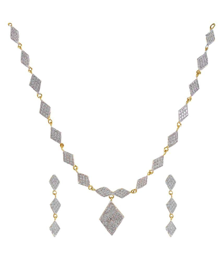 Rejewel White Alloy Necklaces Set