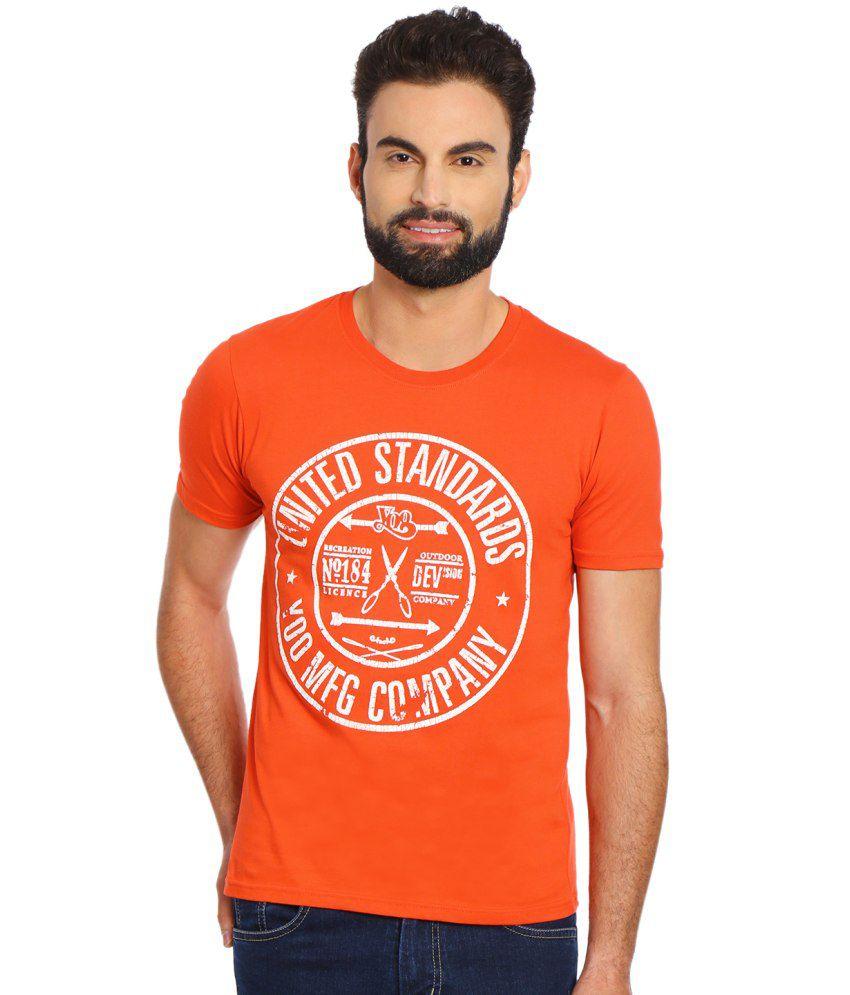 Yoo Orange Round T-Shirt