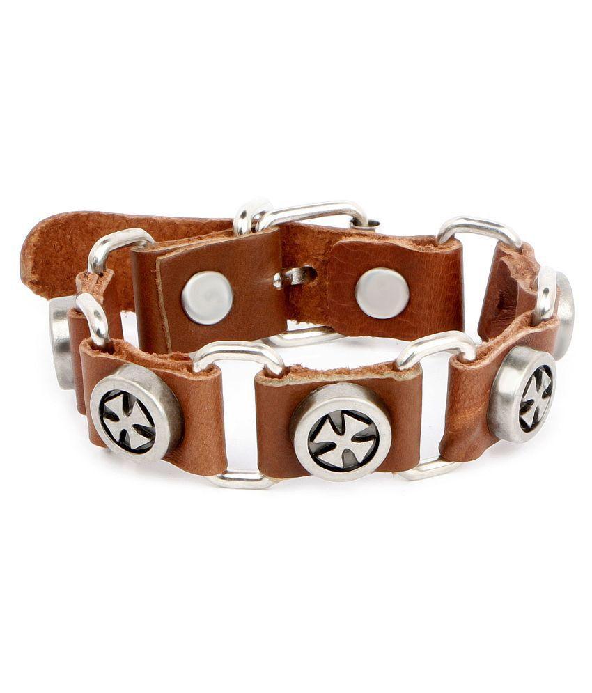 Johareez Brown Leather Bracelet