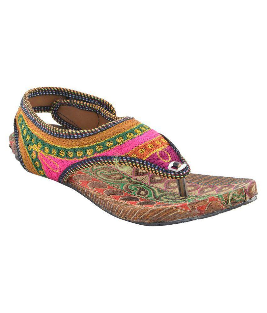 Rajsahi Multi Color Flat Heels