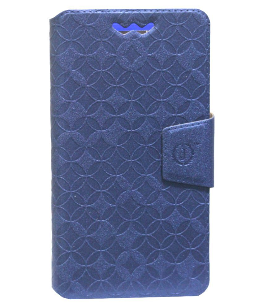 Videocon A27i Flip Cover by Jojo - Blue