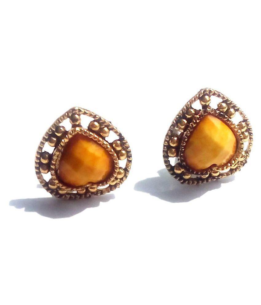 Uma Yellow Stud Earrings