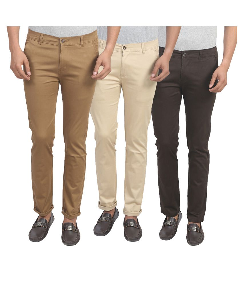 X-CROSS Multi Slim Flat Trouser