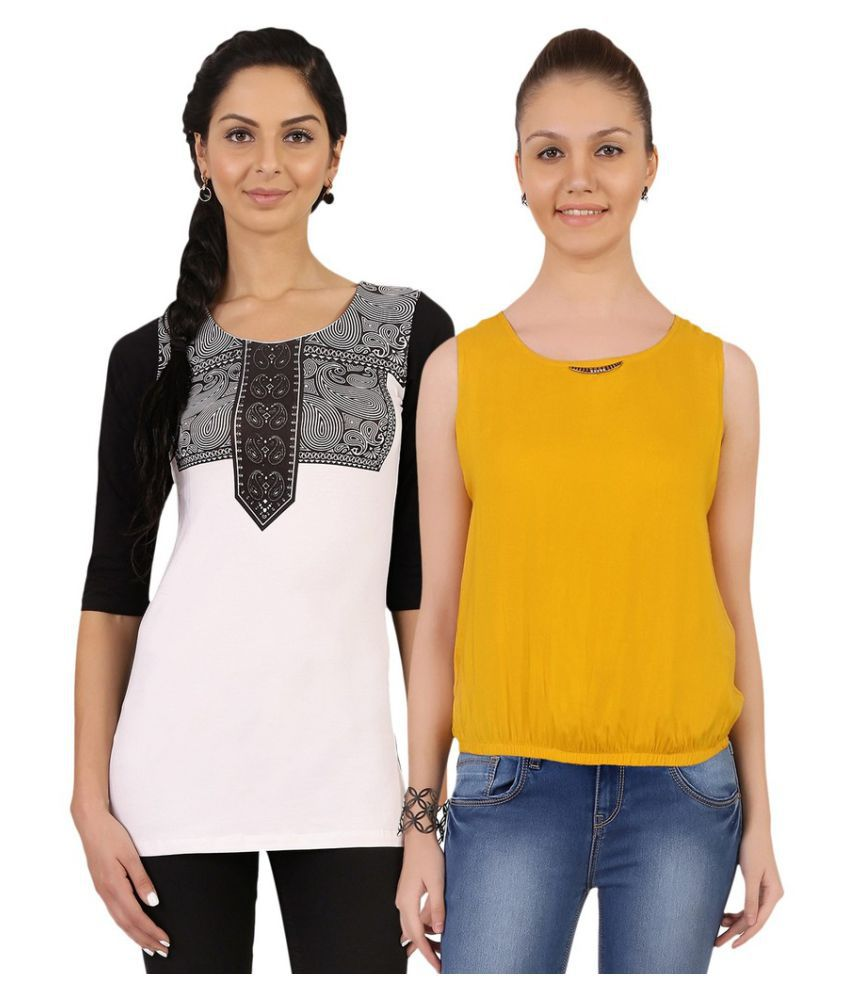 40408fca43bd9 Jazzup Multi Color Rayon Regular Tops - Buy Jazzup Multi Color Rayon  Regular Tops Online at Best Prices in India on Snapdeal