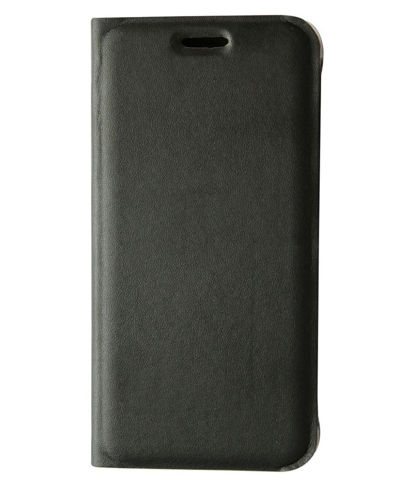Samsung Galaxy J7 Flip Cover by JKR - Black