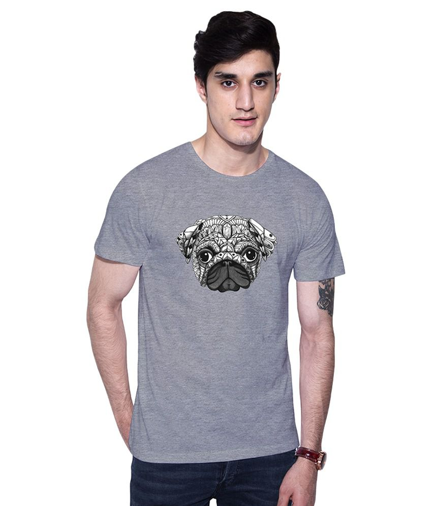 Uptown18 Grey Round T-Shirt