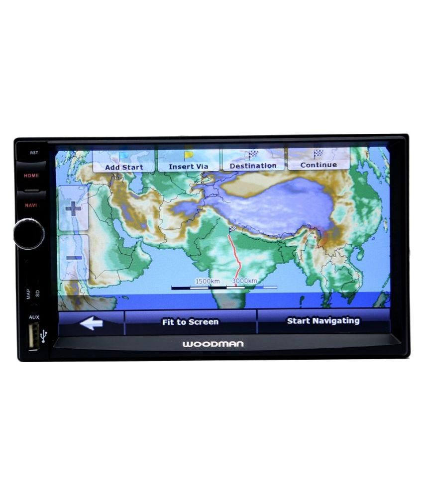 woodman double din with gps navigation system bluetooth usb car