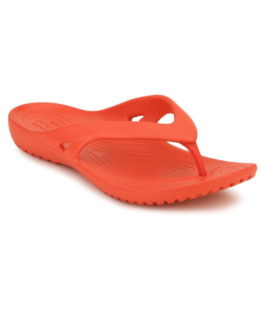 Crocs Red Slippers