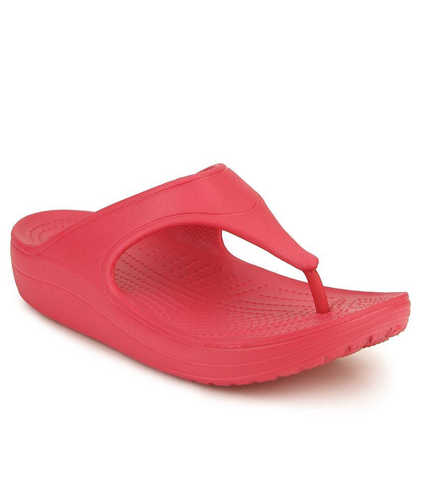 Crocs Pink Slippers & Flip Flops Standard Fit