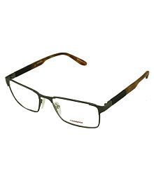 quick view carrera brown rectangle spectacle frame
