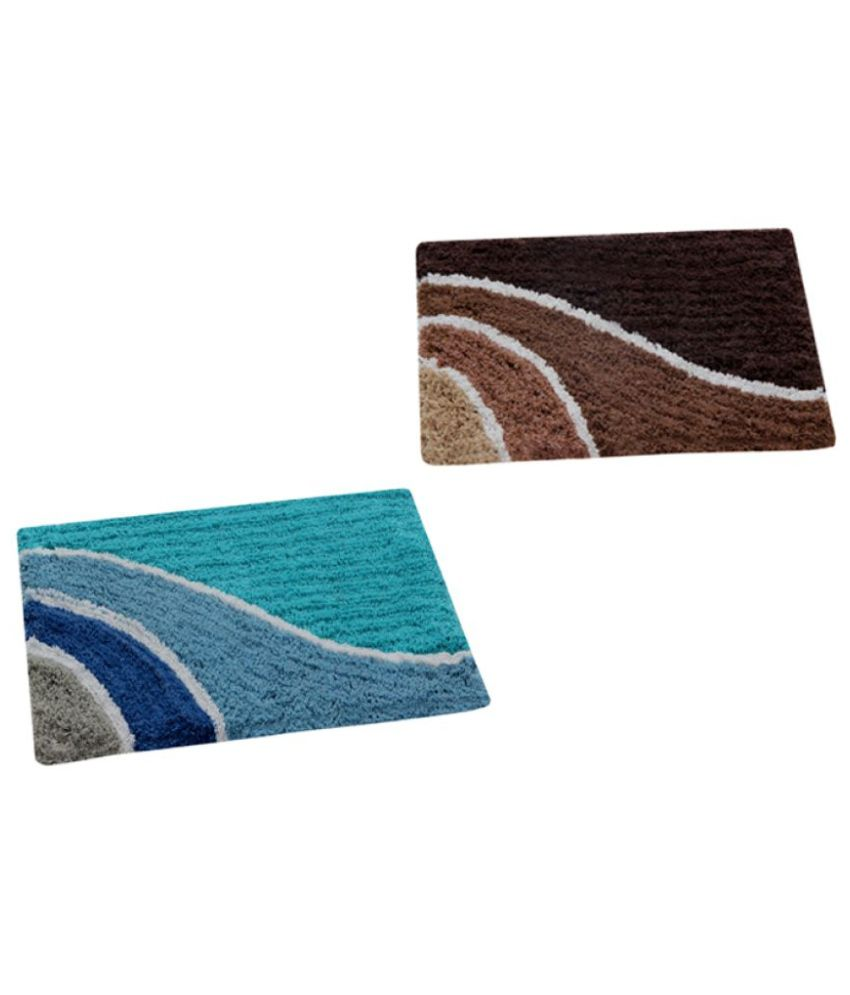 Aazeem Multi Set of 2 Anti-skid Door Mat