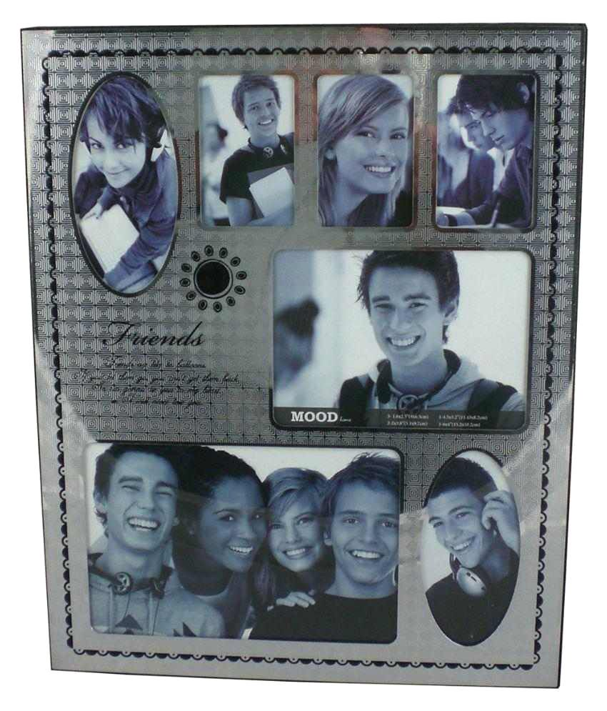 Trinity Stainless Steel TableTop Silver Collage Photo Frame: Buy ...