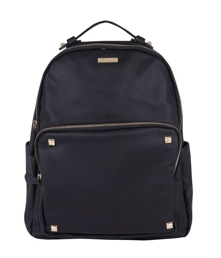 Vero Moda Black P.U. Backpack
