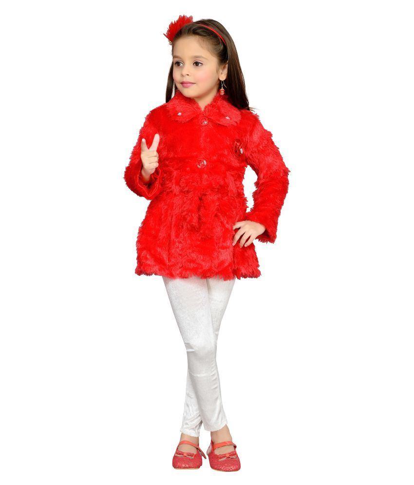 Aarika Red Nylon Jacket with Legging