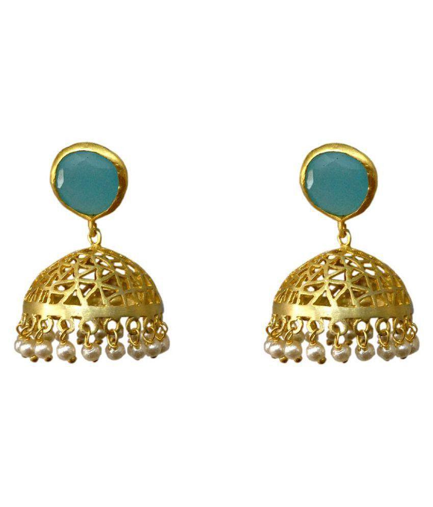 Rathi Emporio Golden Jhumki Earrings