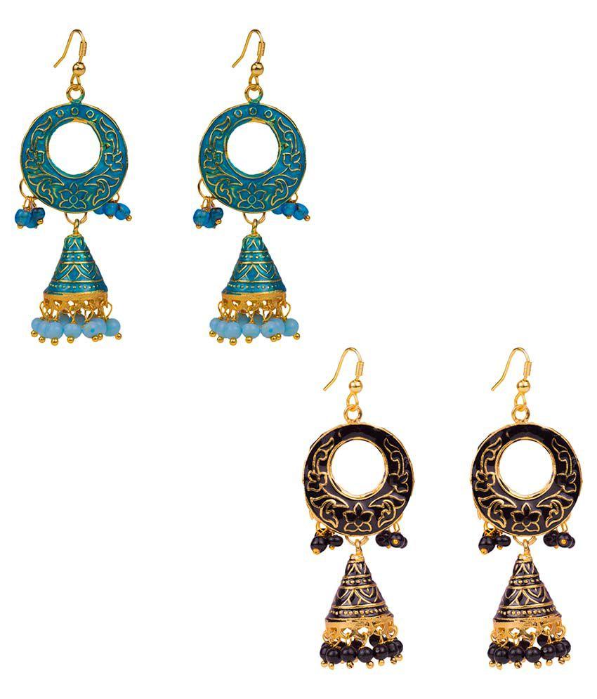 Makezak Multicolour Hanging Earrings