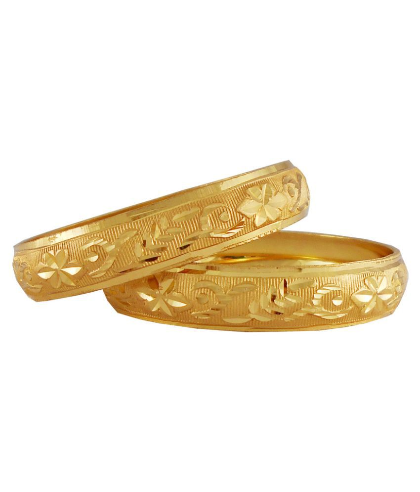 Rejewel Golden Bangle Set