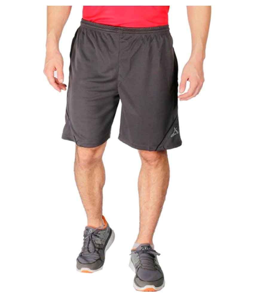 Vector X Grey Polyester Shorts