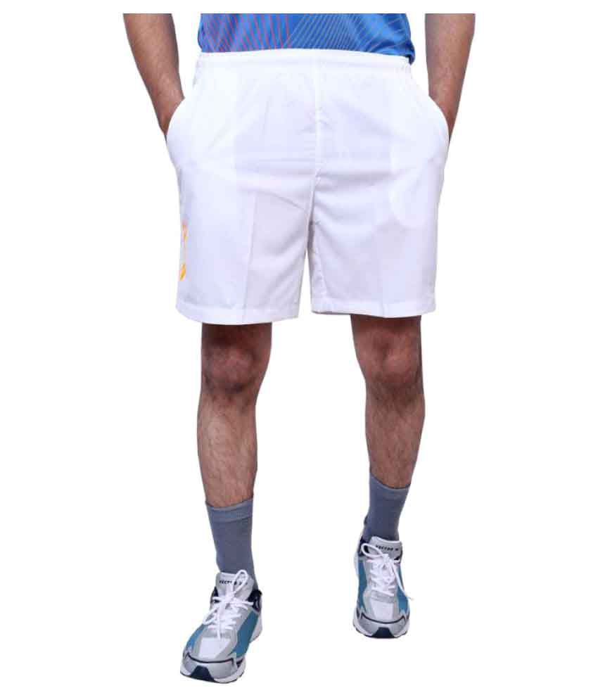 Vector X White Polyester Shorts