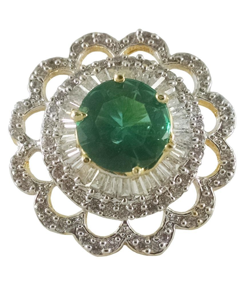 Rejewel Green Alloy Rings
