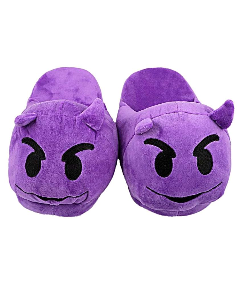 The Crazy Me Purple Slippers