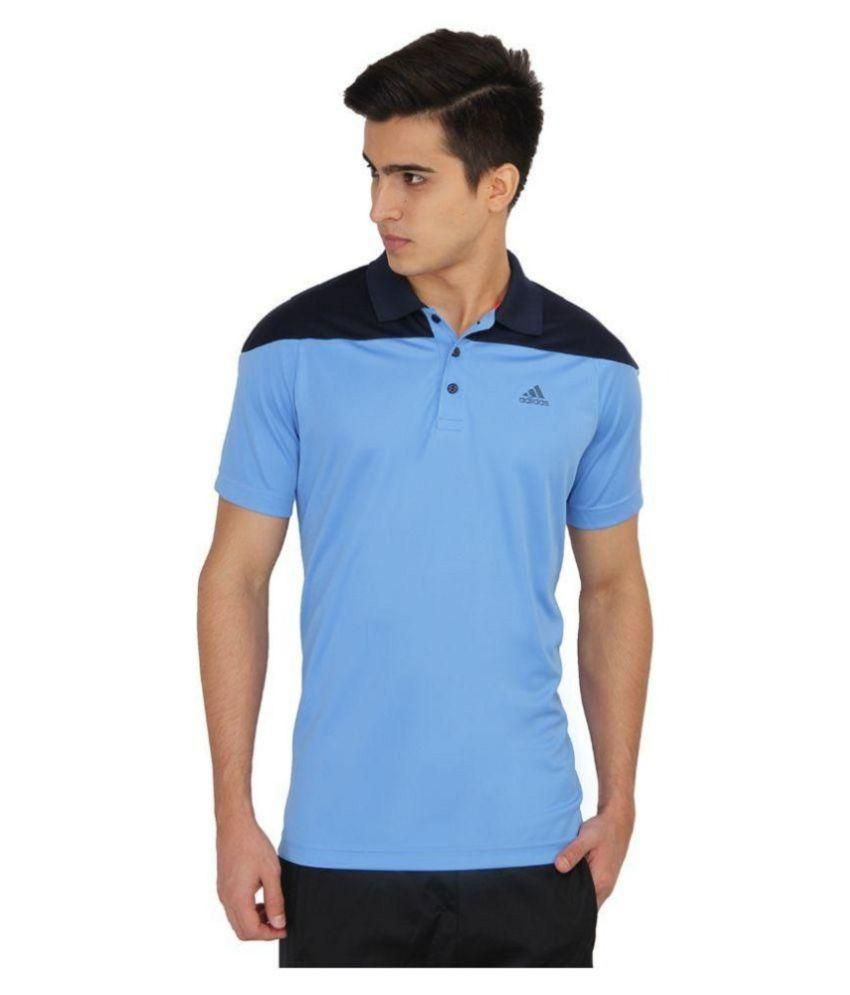 161aa079 Adidas Blue Regular Fit Polo T Shirt - Buy Adidas Blue Regular Fit Polo T Shirt  Online at Low Price in India - Snapdeal