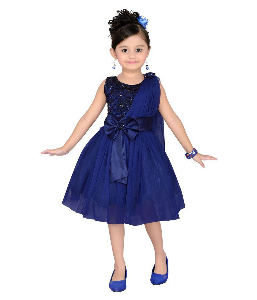 c0dc700c6b Aarika Blue Satin Frocks - Buy Aarika Blue Satin Frocks Online at Low Price  - Snapdeal