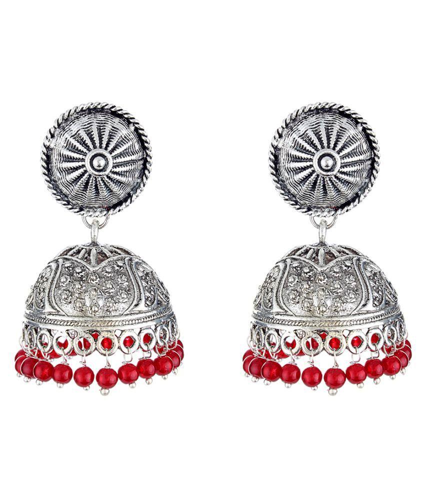 WM Silver Jhumki Earrings