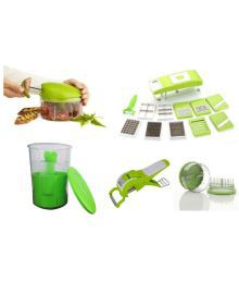 Invella Combo Of Vegetable Quick Chopper With Multicrusher Peelar And Pickle Pot  (Set Of 5 Tools)