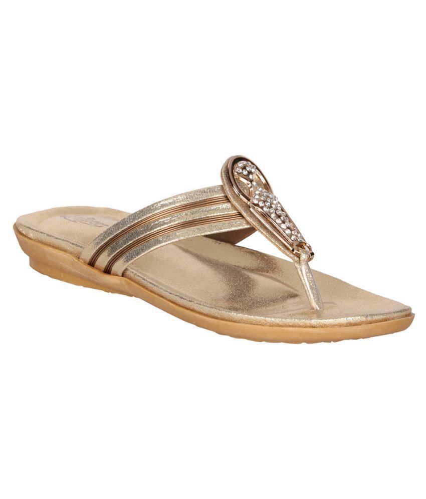 Lotus Feet Gold Flats