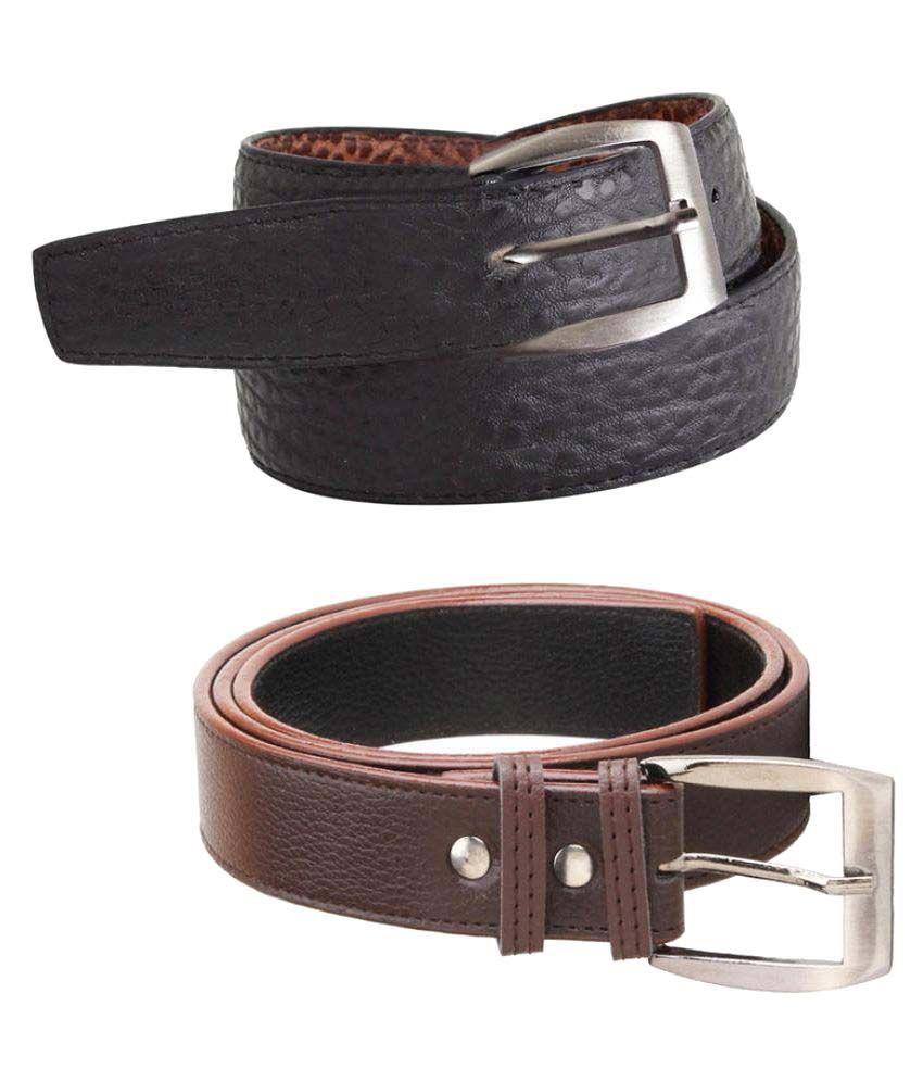 Elligator Black PU Casual Belts