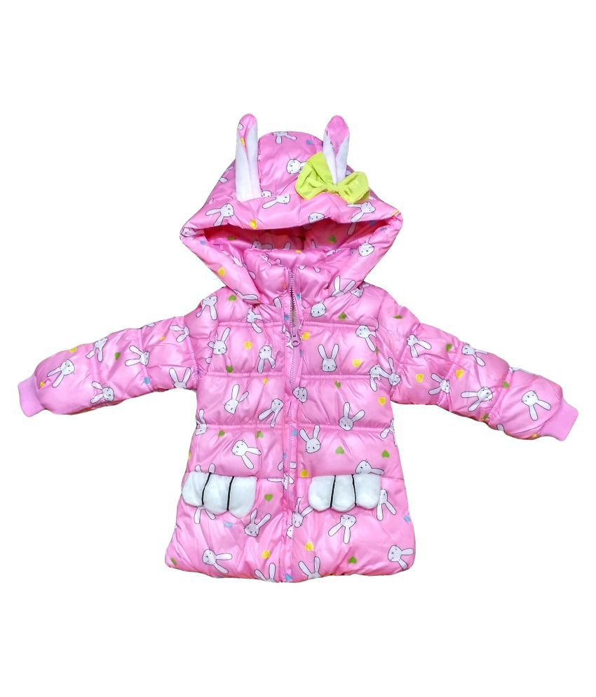 Fusion Fashion Baby Pink Quilted Girl's Jacket