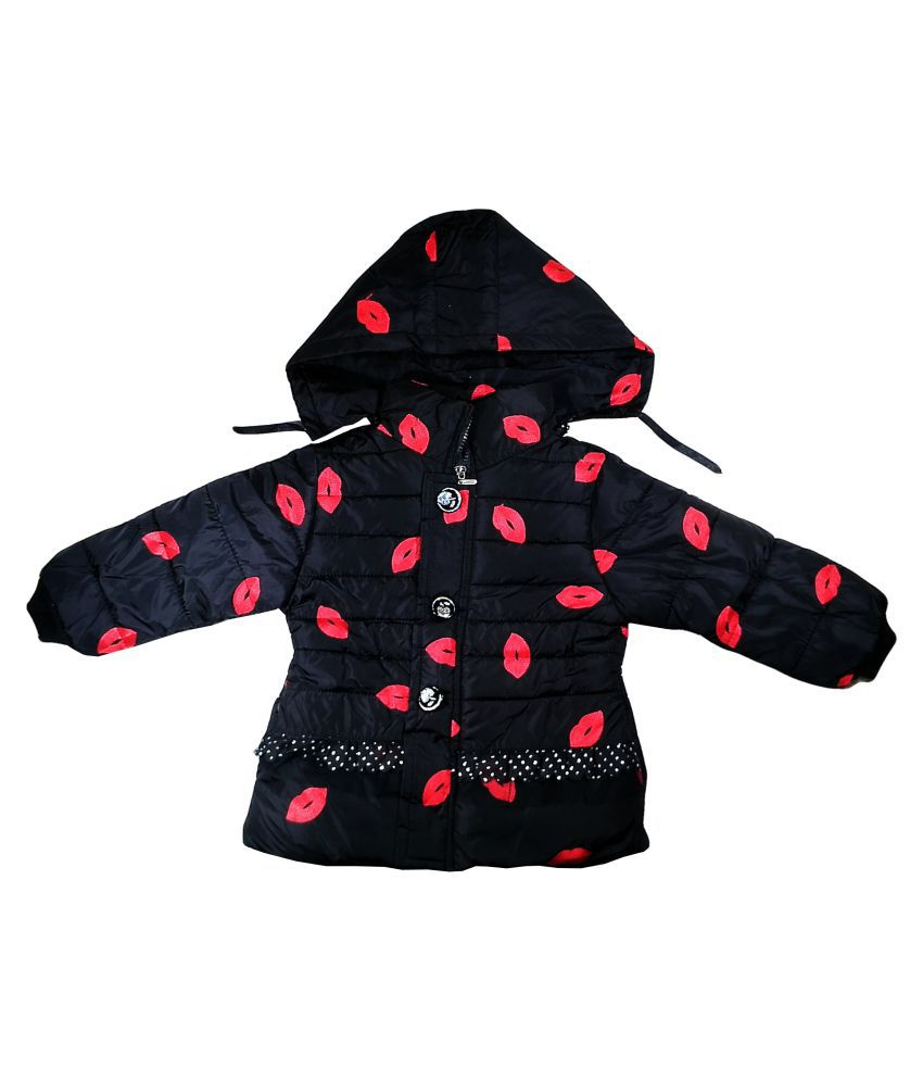 Fusion Fashion Black Quilted Girl's Jacket