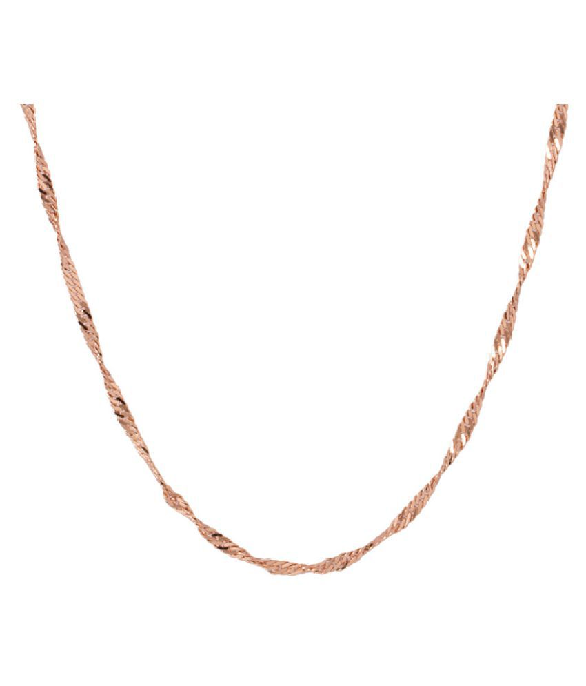 Voylla Rose Gold Toned Sleek Men's Chain
